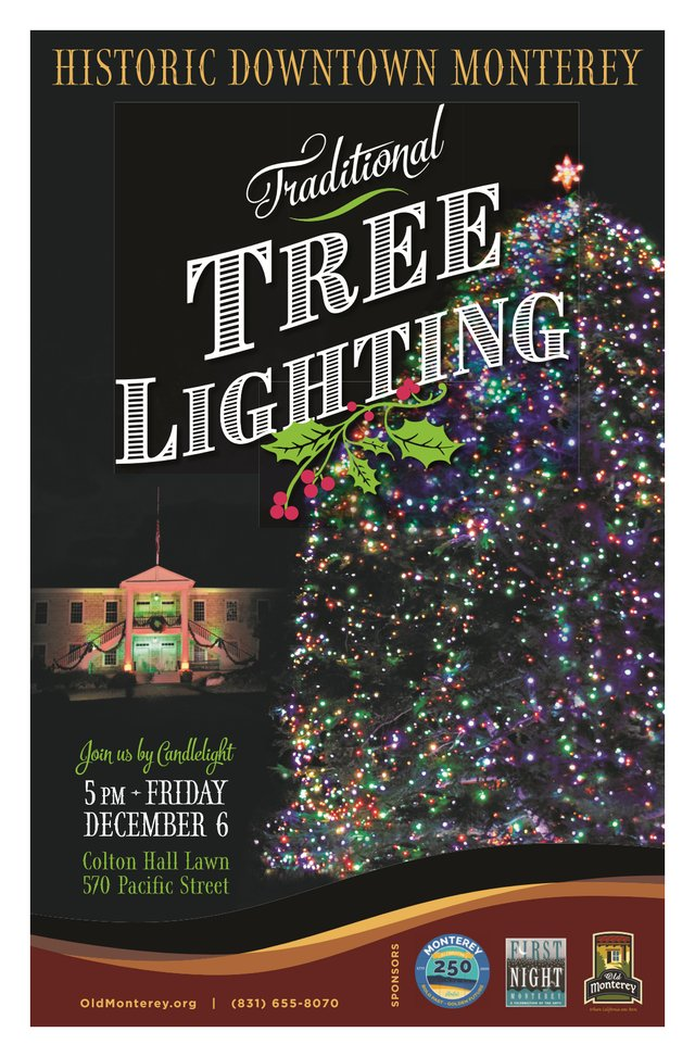 2019 Historic Downtown Monterey Traditional Tree Lighting - Poster.png