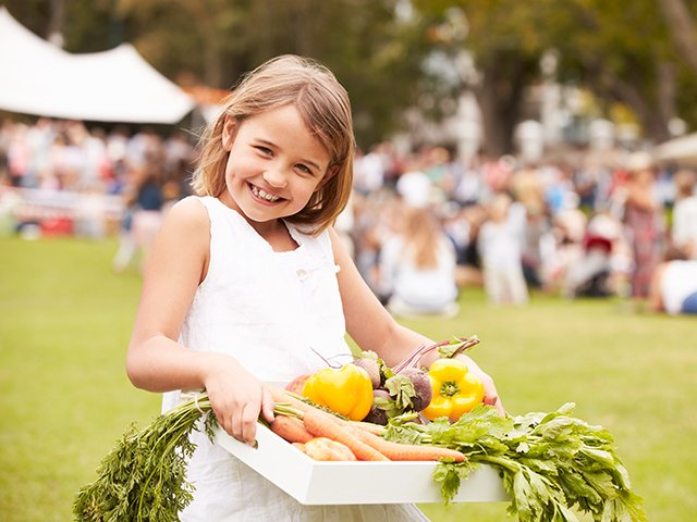 Girl at Farmers' Market