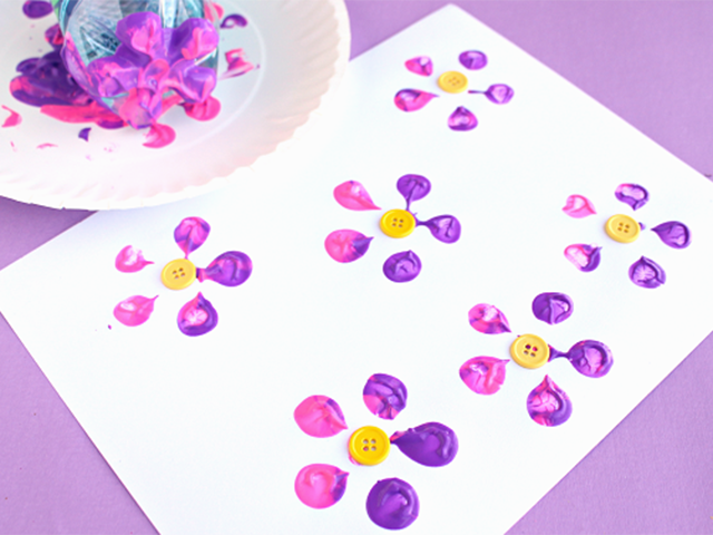 Bottle stamp flowers