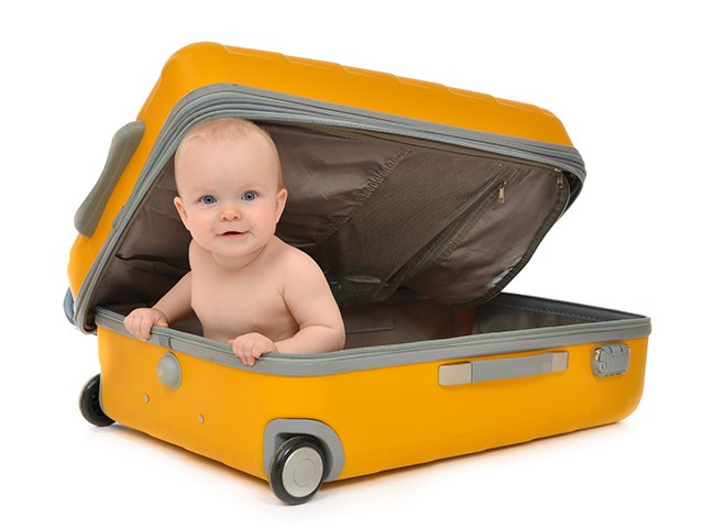 child in suitcase