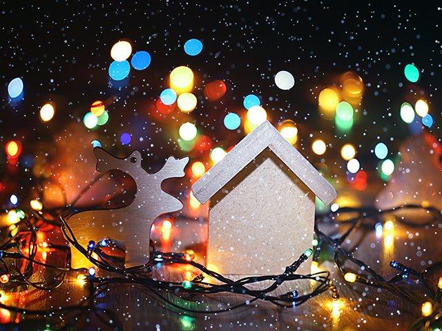 Lights On House