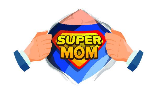 super mom artwork